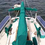 Boat Skinny Solar Panel Installation