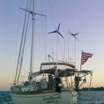 Sailboat with Solar & Wind Installation