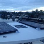 Lagoon Hardtop Bimini Solar Panel Installation