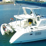 Catamaran Bimini Solar Panel Installation